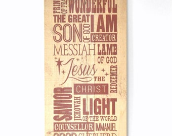 Christmas sign Christian Subway Art rustic wood pallet sign 11x22
