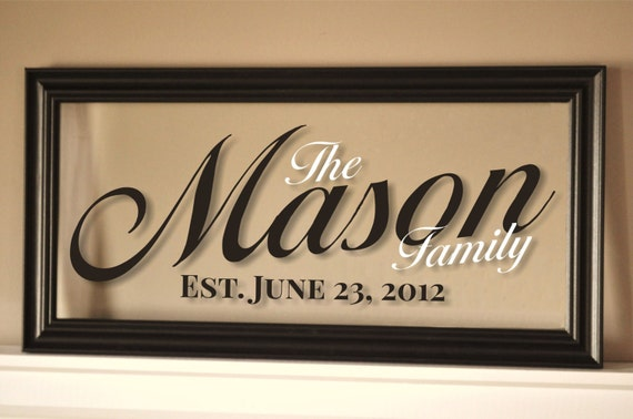 Personalized Picture Frame With Family Name Quote Family: Personalized Picture Frame Family Name Sign Wall Sign