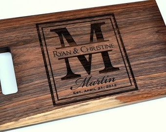 Cutting Board Personalized Cutting Board Laser Engraved 8x14 Wood Cutting Board CB814LI