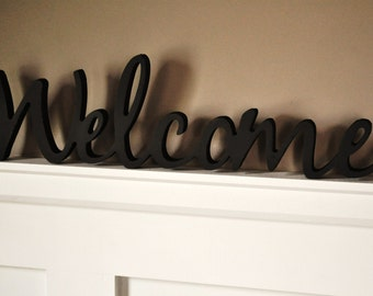 Word Art Wood 3D Cutout 'Welcome' by MRC Wood Products