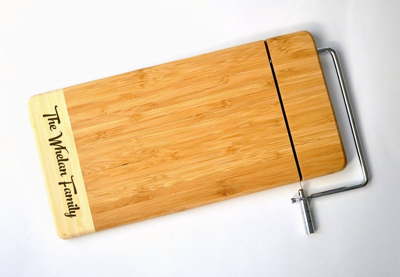 f7940991f3a8a Personalized Cheese Cutting Board Laser Engraved Two Tone