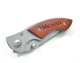 Personalized Engraved Pocket Knife Great for Father's Day or Groomsman Gift