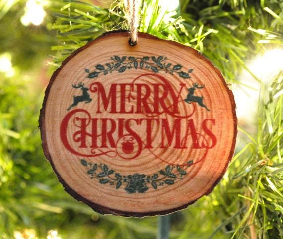 Wood Slice Ornament Laser Engraved Personalized Christmas Ornament - Wood Slice Ornament Laser Engraved Personalized Christmas Etsy