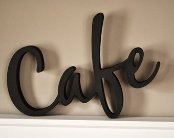 Word Art Wood 3D Cutout 'Cafe' by MRC Wood Products