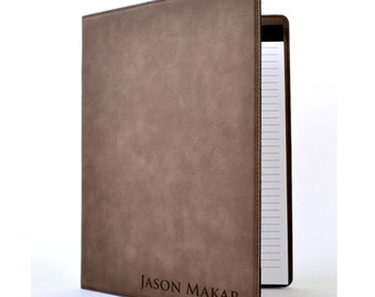 Personalized Leather Portfolio Notebook 8 Colors To Choose From