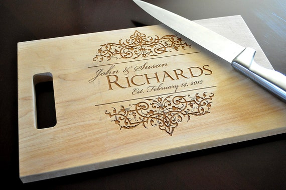 personalized cutting board laser engraved 8x14 wood cutting etsy