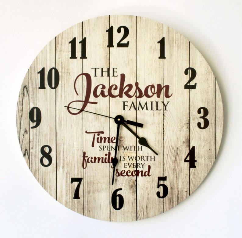 Personalized Rustic Clock 18 Inch Diameter by MRC Wood image 0
