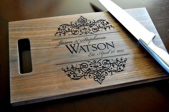 personalized cutting board laser engraved 11x15 wood cutting etsy