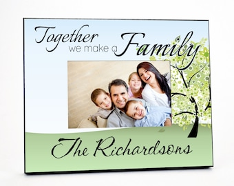 Personalized Family Picture Frame for 4x6 Photo Mother's Day Gift UPRI_01