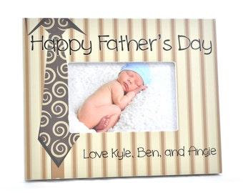 Fathers Day Personalized Picture Frame for 4x6 Photo Custom Frame Gift UPFD-01