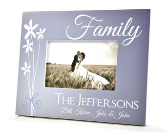 Personalized Picture Frame for 4x6 Photo Wedding or Anniversary Gift UPJF-01