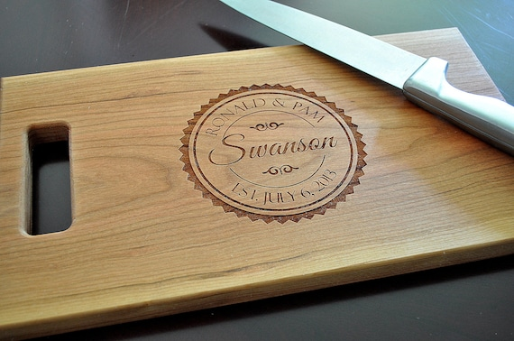 cutting board personalized chopping block laser engraved 11x15 etsy