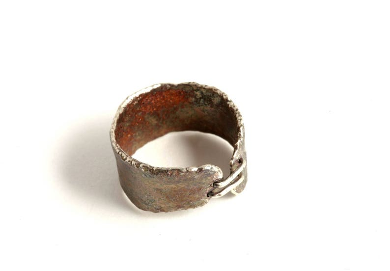 Ring in silver cross-linked and oxidized oxide image 0