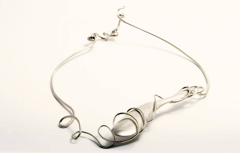 Sterling Silver 'Hollow Form' necklace image 0