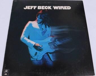 Vintage Vinyl Record - Jeff Beck Wired - EPIC 1976 PE 33949 VG+/Nm Album