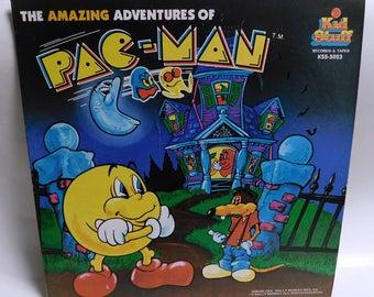 Vintage Vinyl Record - The Amazing Adventures of Pac-Man 1980 Kid Stuff Records EXC+ Album