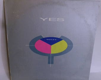 Vintage Vinyl Record YES 90125 ATCO 90125 1983 Vintage Album lp Progressive Rock and Roll Music