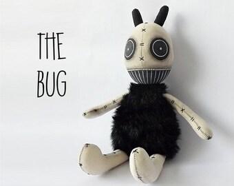 Goth Doll Creepy Monster Bug Stuffed Art Doll Soft Toy