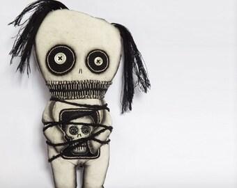 Voodoo Doll Zombie Horror Doll Goth Doll Art Doll