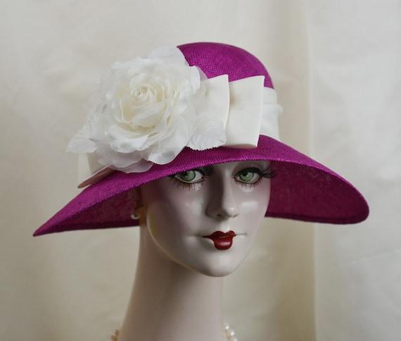 Ladies Straw Hat 1920s Straw Hat Garden Hat  ed6b7eba799