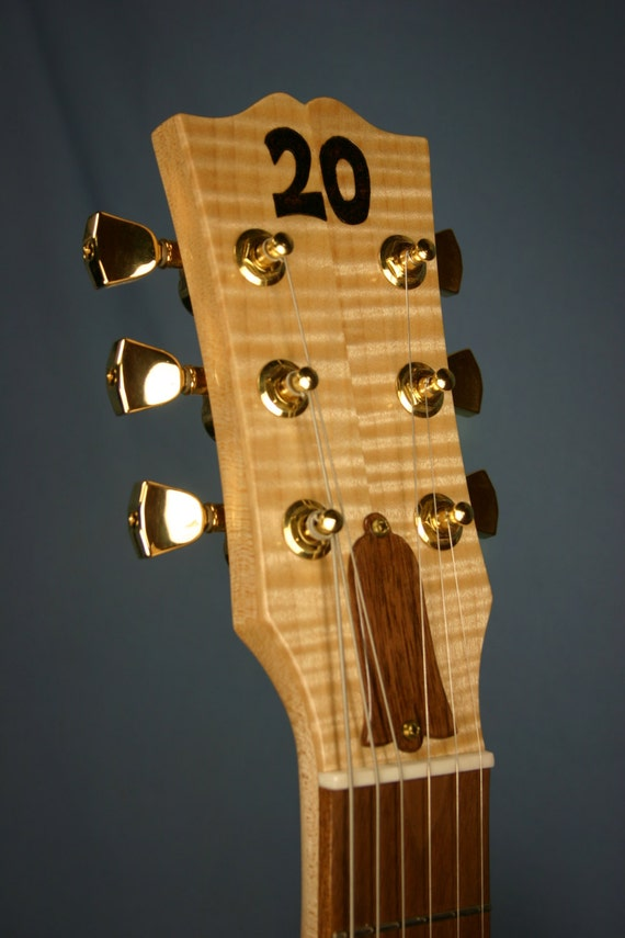 custom guitar head beer tap handle maple wood with woodburning etsy