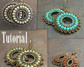 TUTORIAL Bead Woven Medallion Earrings