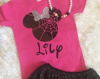 Minnie Mouse Inspired Spider Web T-Shirt