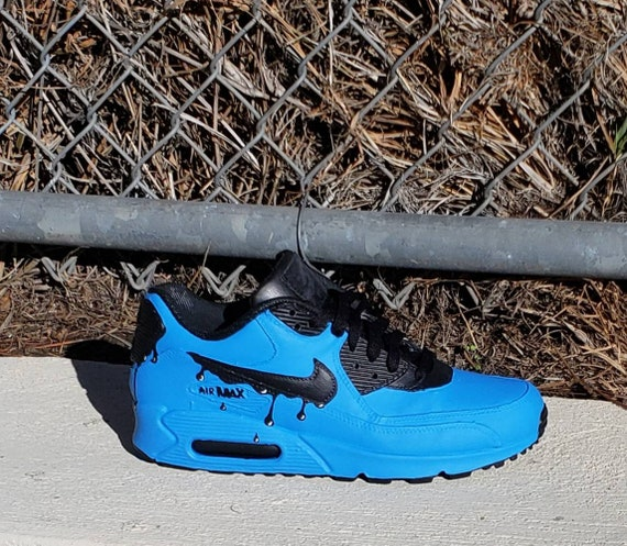Fluorescent blue drippy nike air max 90 | shoes in 2019