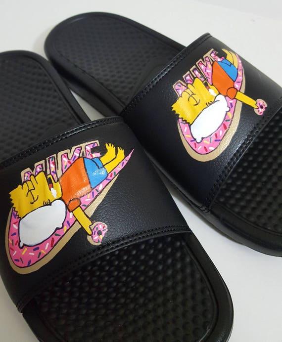 the latest 51f53 b57e4 Bart Simpson Donut Nike Benassi Jdi sandale diapositives   Etsy