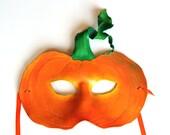 Pumpkin Mask - Handmade Leather Mask