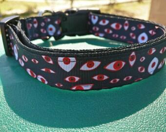Demon Eyes Themed Dog Collar