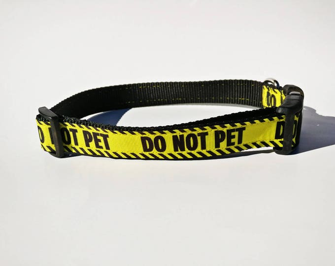 Featured listing image: Do Not Pet Dog Collar