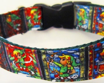 Gaming Themed 1 Inch Width Adjustable Dog Collar