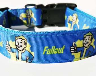 Gaming Themed Dog Collar-- NOTE: Sewn on black, not blue as pictured