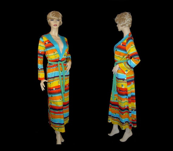 Small - colourful Mondrian dressing gown robe - Za