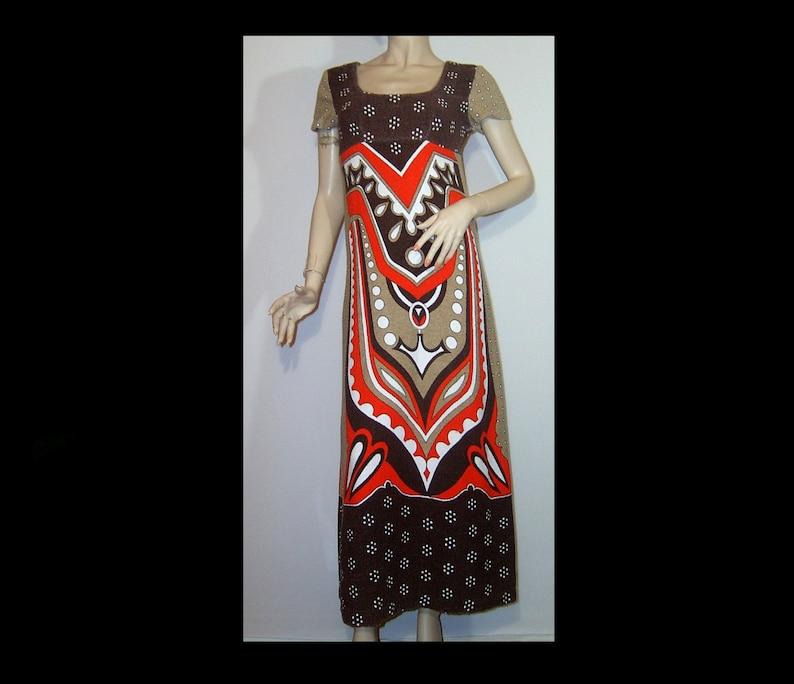 0917eb84e74 Small Cotton terry towel cloth maxi dress fab art deco