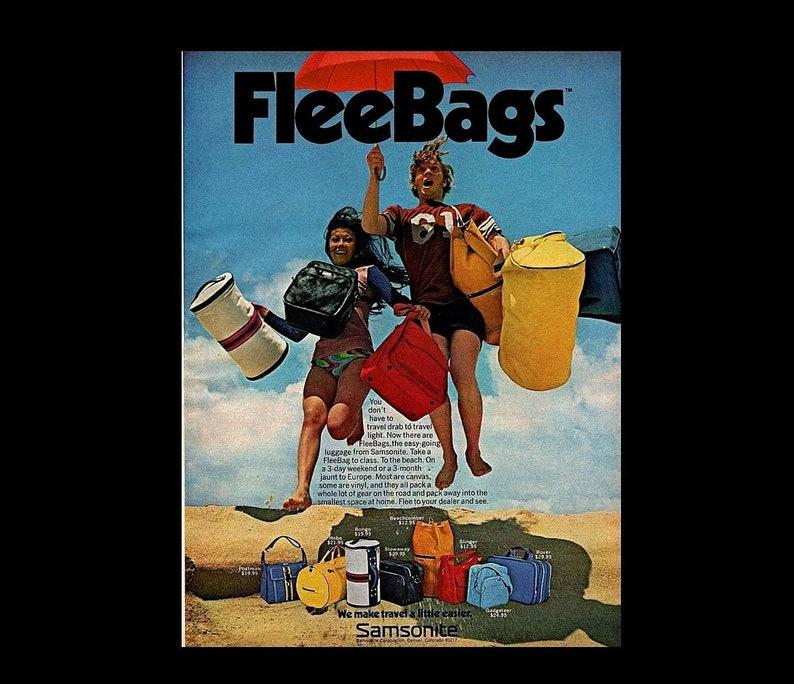 1970s hot pink red Samsonite Canada carry on flight bag suitcase w long adjustable strap ~ top zipper ~ vinyl travel duffel case gym duffle