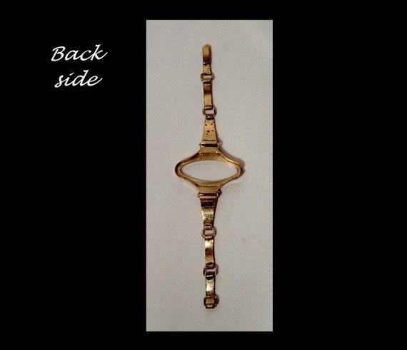 Ladies mid century gold tone metal space age watc… - image 6