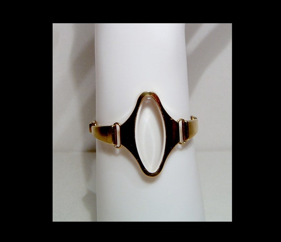 Ladies mid century gold tone metal space age watc… - image 7