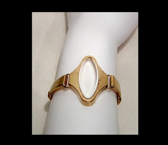 Ladies mid century gold tone metal space age watc… - image 2