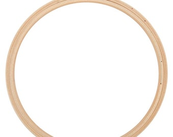 "Frank A. Edmunds Wood Embroidery Hoop Round Edges 7"" Quality embroidery hoop with brass closure and smooth, round edges."