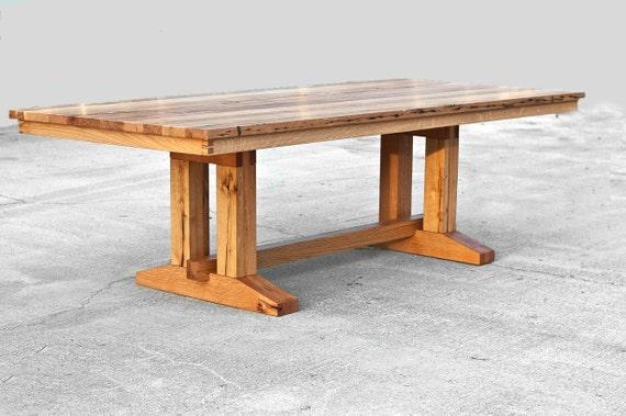 Custom Barnwood Trestle Dining Table Reclaimed Wood Dining Etsy