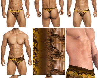 Tropical Palms in 7 Styles - Thong-Bikini-Briefs-Squarecut-Boxer-Board - 227