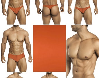 Solid Copper Swimsuits for Men by Vuthy Sim.  Choose Thong, Bikini, Brief, Squarecut, Boxer, or Board Shorts - 25
