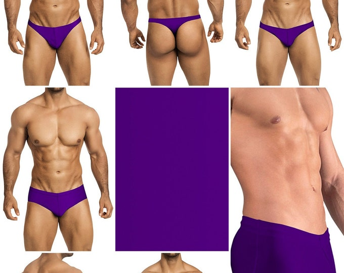 Solid Purple Swimsuits for Men by Vuthy Sim in Thong, Bikini, Brief, Squarecut, Boxer or Board Shorts - 21