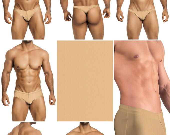 Solid Nude Swimsuits for Men by Vuthy Sim in Thong, Bikini, Brief, Squarecut, Boxer or Board Shorts - 20