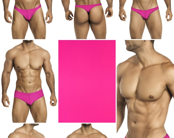 Solid Fuscia Swimsuits for Men by Vuthy Sim.  Choose Thong, Bikini, Brief, Squarecut, Boxer, or Board Shorts - 22