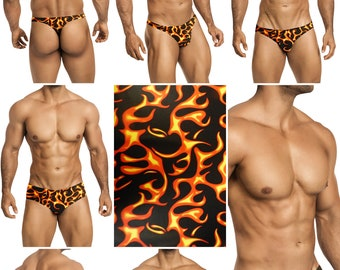 Great Balls of Fire Swimsuits for Men by Vuthy Sim in Thong, Bikini, Brief or Squarecut - 183