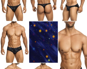 Deep Space Swimsuits for Men by Vuthy Sim in Thong, Bikini, Brief, Squarecut, Boxer, or Board Shorts - 281