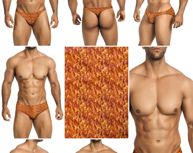 Burning Desire Swimsuits for Men by Vuthy Sim in Thong, Bikini, Brief, Squarecut, Boxer, or Board Shorts - 285